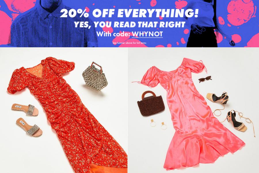 ASOS | 超棒折扣全场20%OFF,夏天凹造型必备小裙子、鞋子来入!