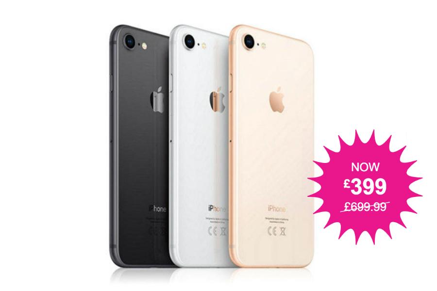 Apple | 翻新64GB iPhone 8限时43%OFF!现省300镑!