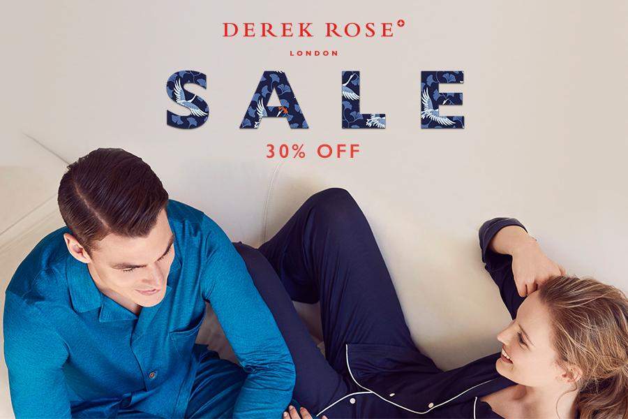 Derek Rose | 英国皇室穿的睡衣品牌精品折扣30%OFF!