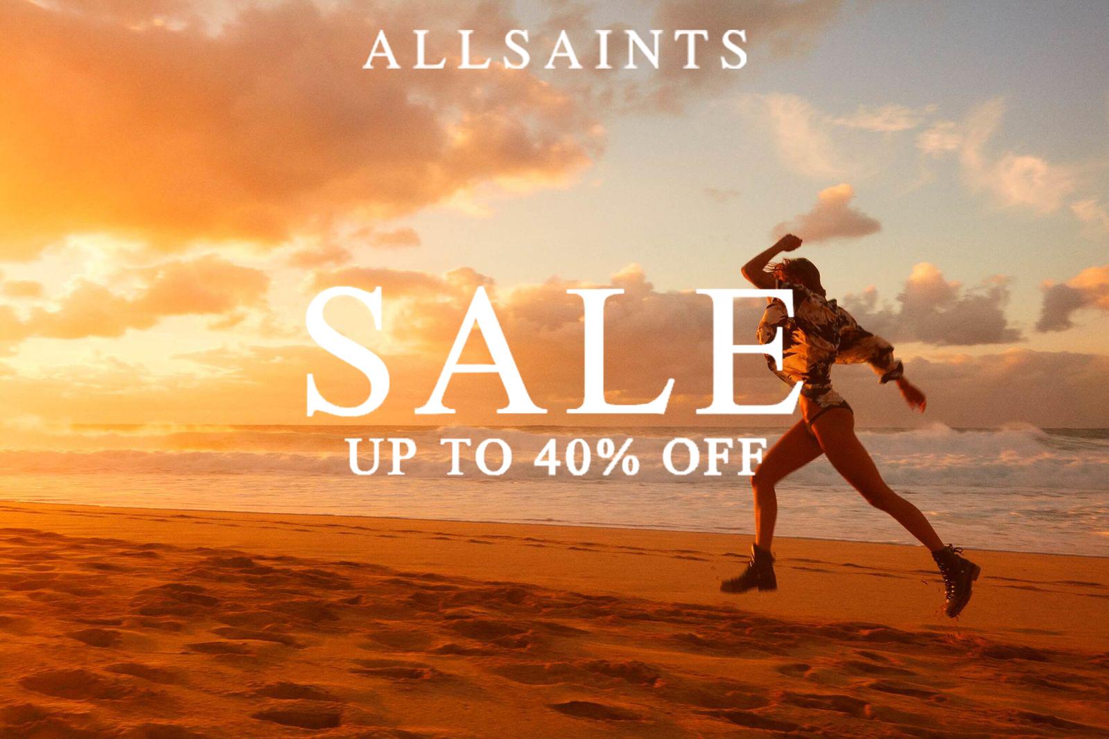 AllSaints | 夏季折扣高达40%OFF,经典皮衣和夏日碎花都有!