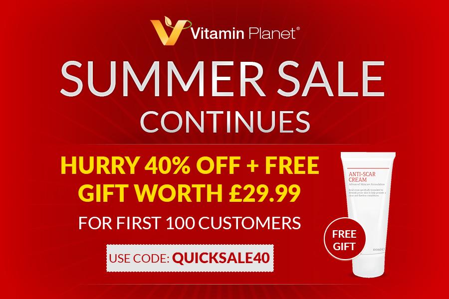 Vitamin Planet | 夏季大促前100名顾客享受40%OFF优惠+免费礼物!