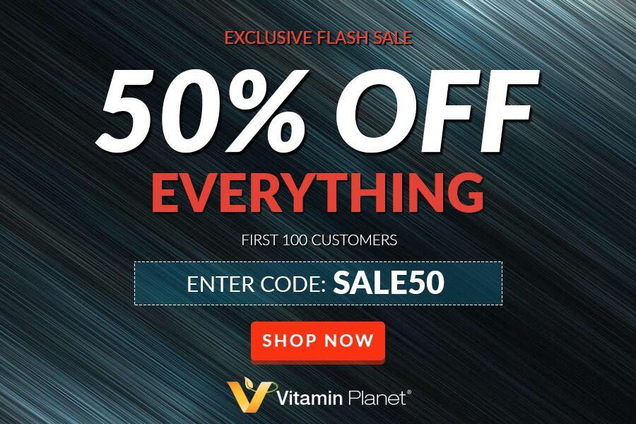 Vitamin Planet | 月末大促前100顾客全场五折!