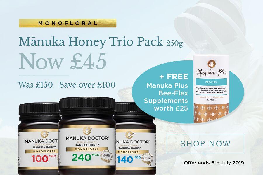 Manuka Doctor麦卢卡蜂蜜 | 超值套装可省105镑+免费礼品!