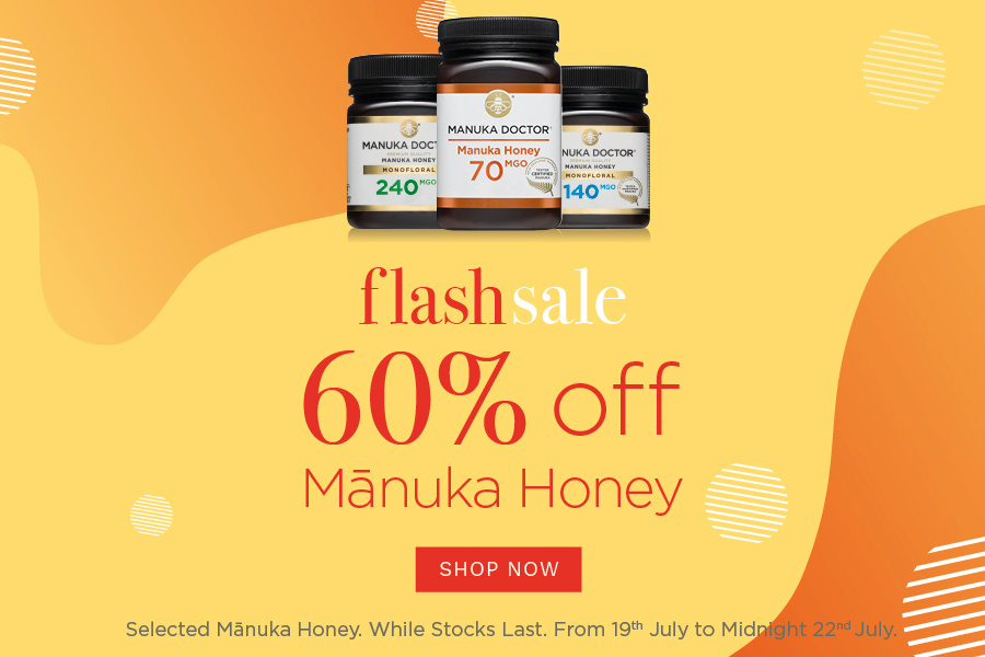 Manuka Doctor | 麦卢卡蜂蜜闪销全线4折+独家85折!£5收最新补剂!