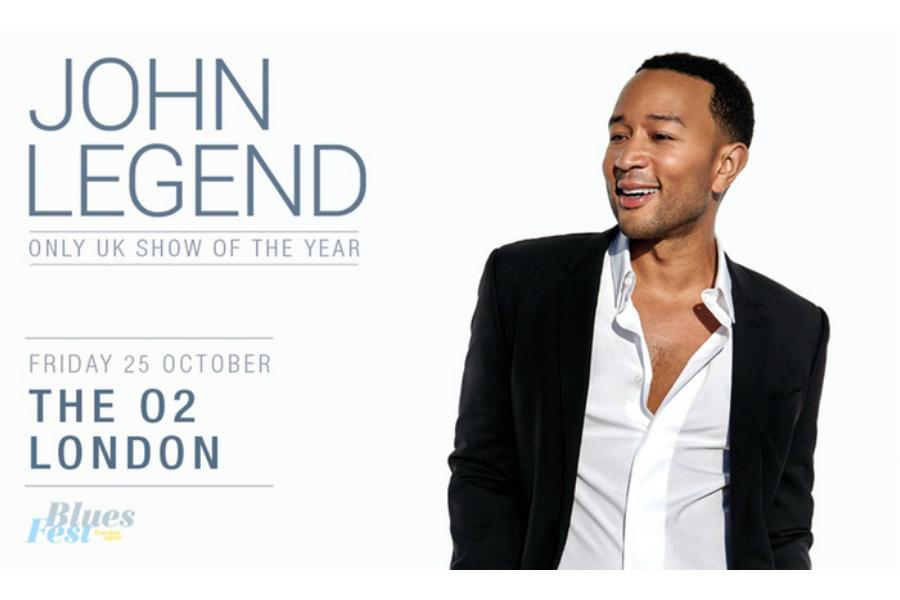 Groupon | 一日闪促,仅£33看John Legend蓝调音乐节专场演唱会