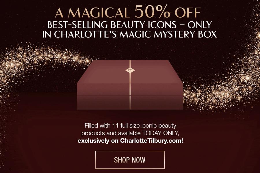 Charlotte Tilbury | 仅限今天!官网超值福袋5折,11件热门款正装一键入手