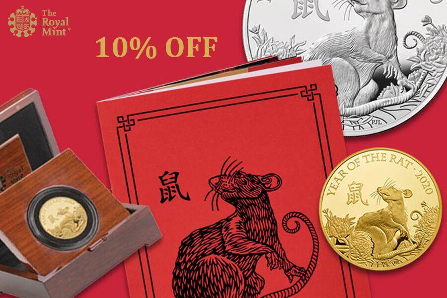 The Royal Mint 英国皇家铸币局 | 2020鼠年新春纪念币限时独家9折!