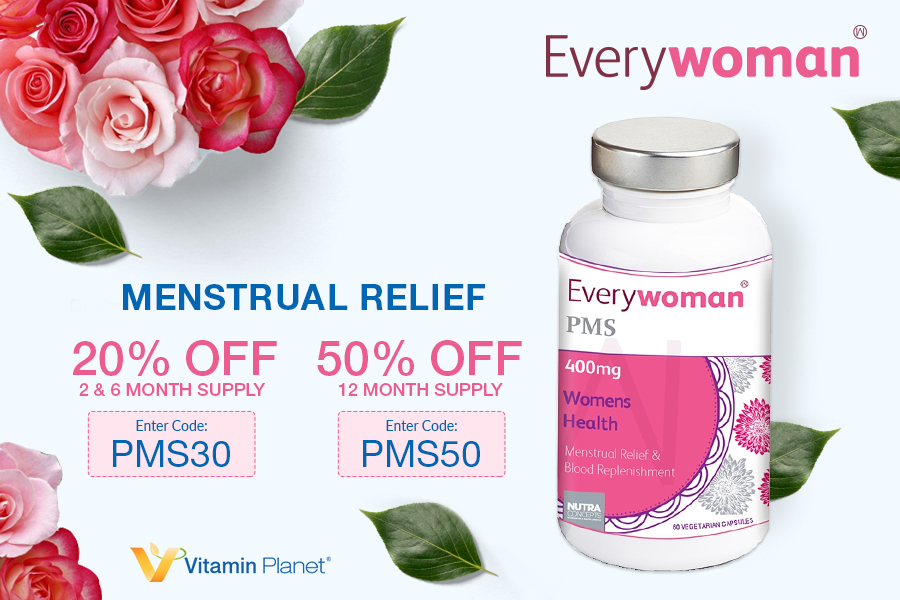 Vitamin Planet   Everywoman痛经宝胶囊低至5折,内个不痛,月月轻松!