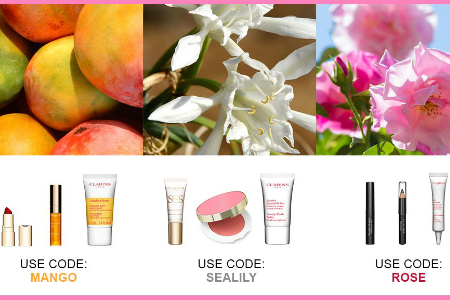 Clarins | 人气植物护肤品牌满£60赠品9选3,你爱芒果、玫瑰还是海百合?