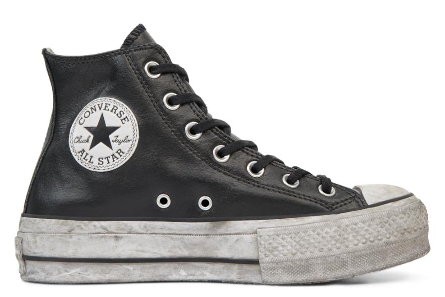 Converse | 买1件85折,买2件7折,高帮皮质Chuck Taylor小脏鞋好酷!