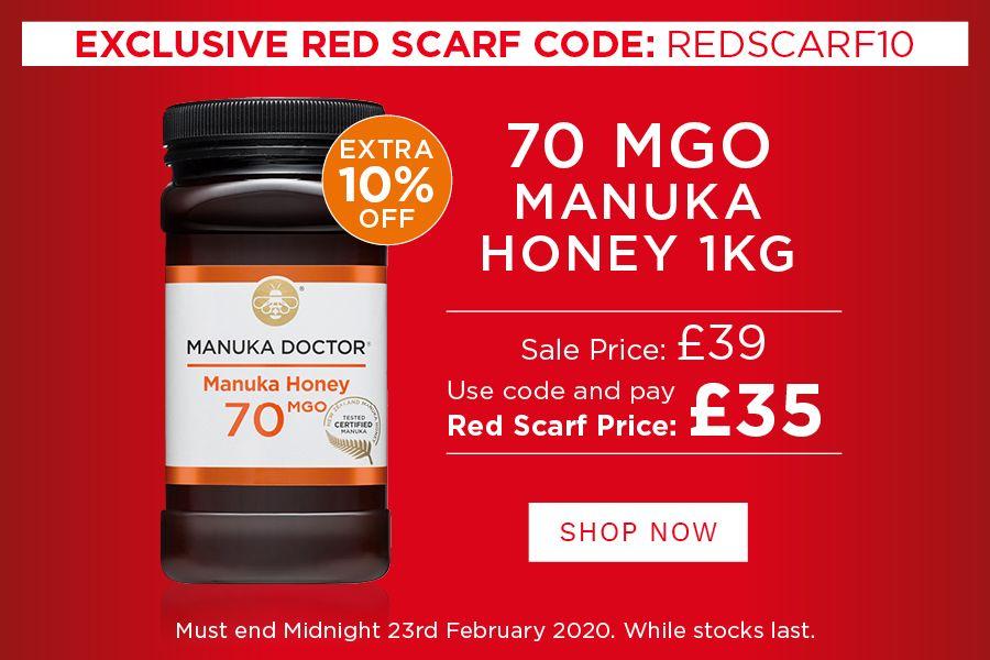 Manuka Doctor | 原价£110的1KG装70MGO麦卢卡蜂蜜,独家限时仅售£35