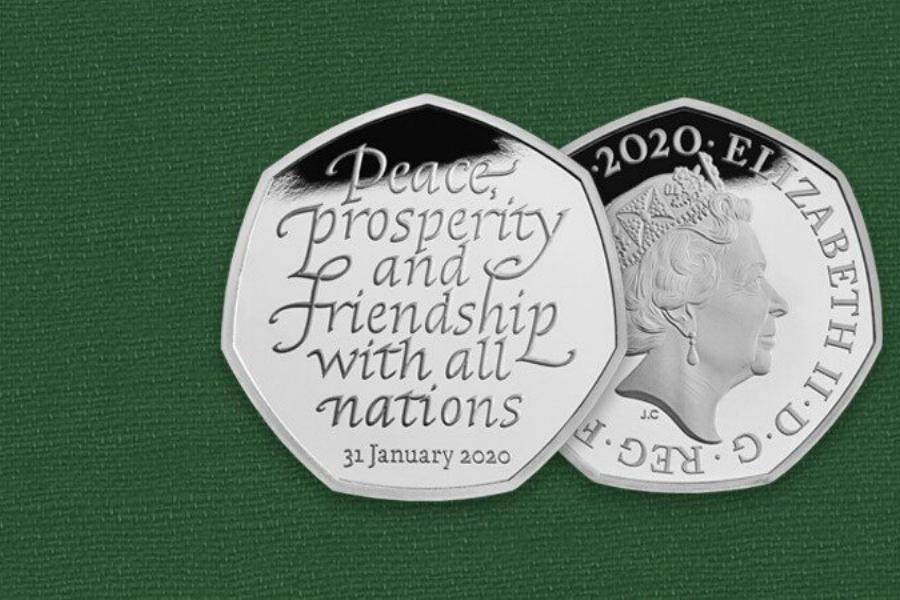 The Royal Mint 英国皇家铸币局 | 50便士脱欧纪念币补货,值得收藏