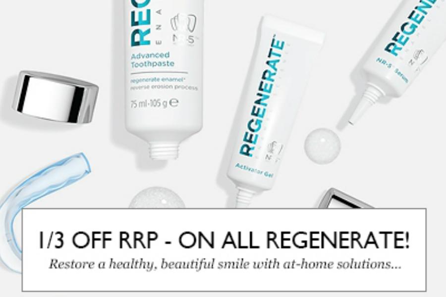 Regenerate | 新晋牙膏人气王全线67折+额外75折,折上折后仅£4.99最后一天