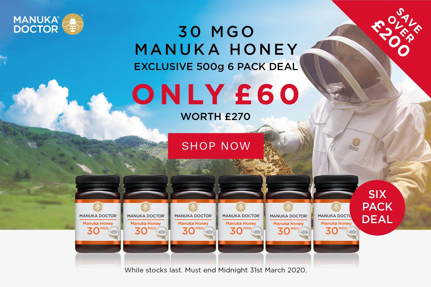 Manuka Doctor   麦卢卡养生蜂蜜独家22折,直减210镑一罐仅£10!