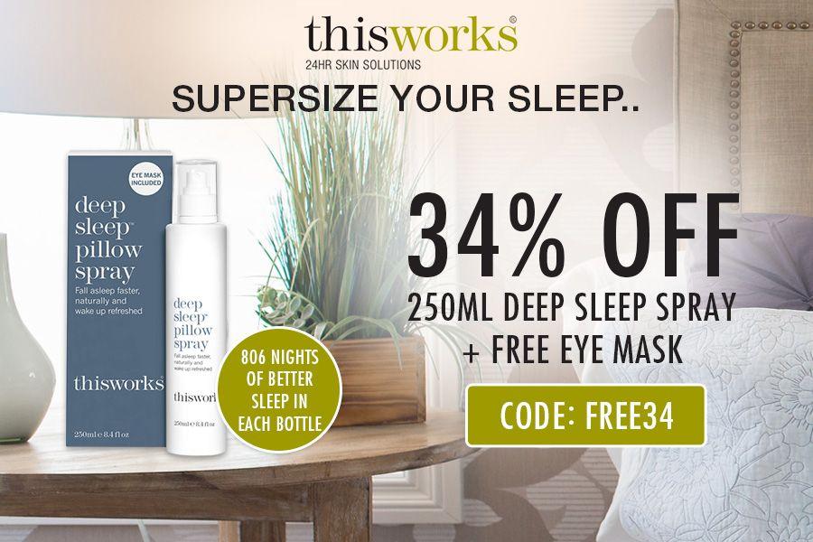 ThisWorks | 大热助眠喷雾250ml豪华装折后只需£23,还加赠安眠眼罩!
