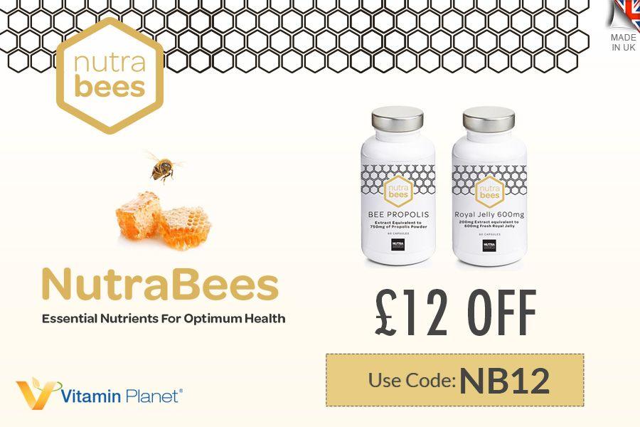 NutraBees   VP旗下蜂胶立减£12,750mg折后仅£7.99,优秀天然抗氧化剂!
