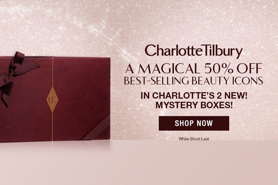 Chartlotte Tilbury   美妆套装低至78折,神秘美妆护肤礼盒5折!绝美蜜桃盘来入!
