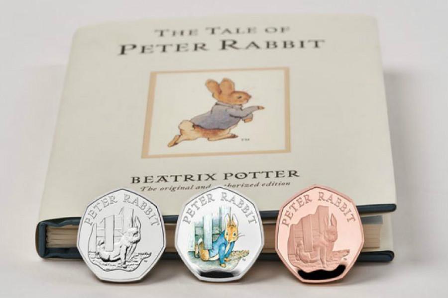 The Royal Mint | 满£60可获赠面值50p彼得兔纪念币,这是国民兔子最后一次登上50p了!