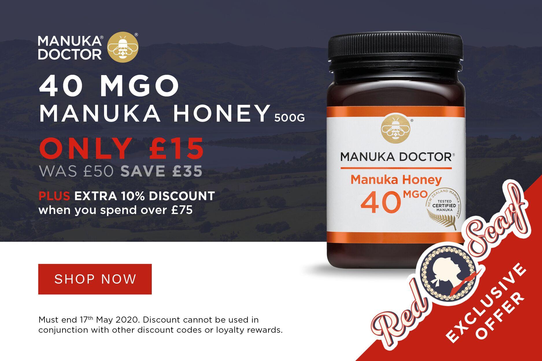 Manuka Doctor   排毒养胃蜂蜜低至3折,还有限时额外9折满额减!