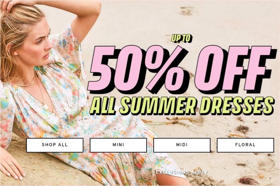 TOPSHOP | 全场裙子5折起,超美夏日必备美丽装备现在入手正当时!