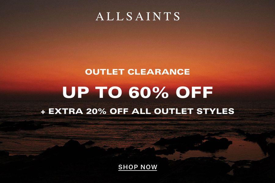 Allsaints | 低至4折 + 额外8折!型酷夹克只要£127,还有超飒单品底价入!