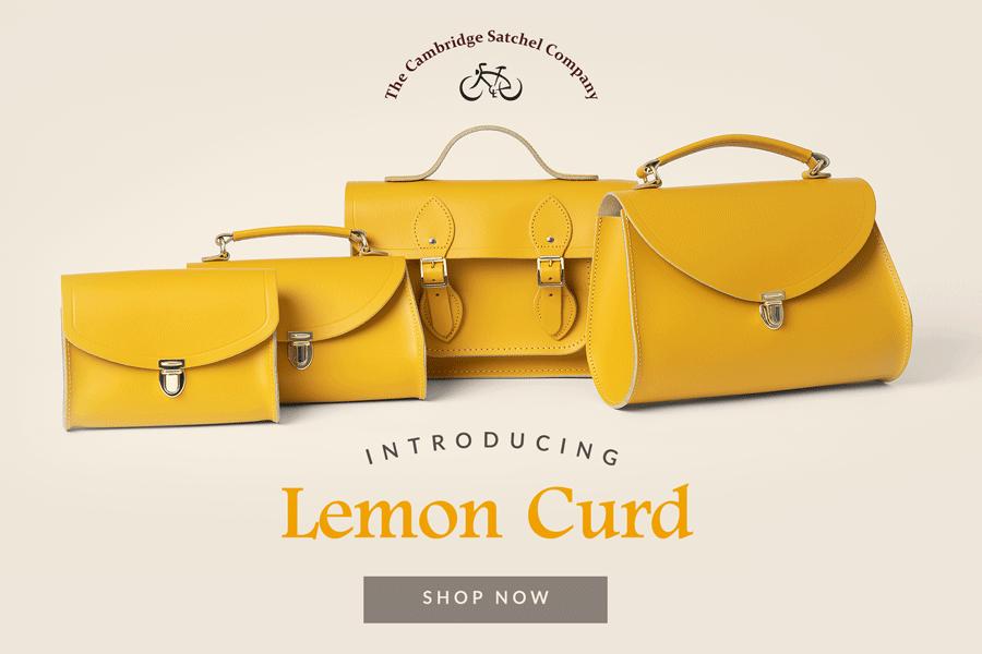 剑桥包 | 新品柠檬黄系列登场!正宗英伦精工背包也可以如此阳光!