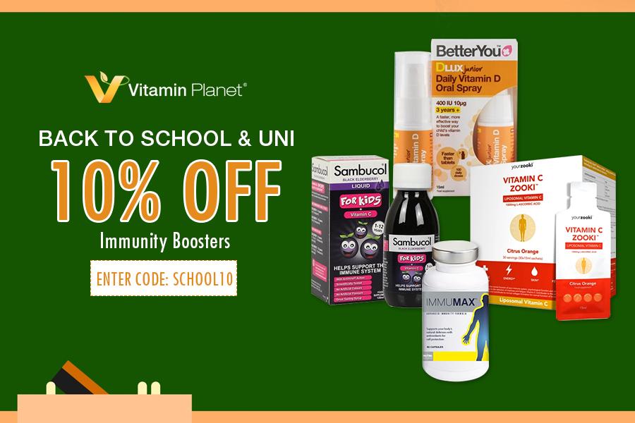 Vitamin Planet开学季9折,你的免疫力由它们守护!