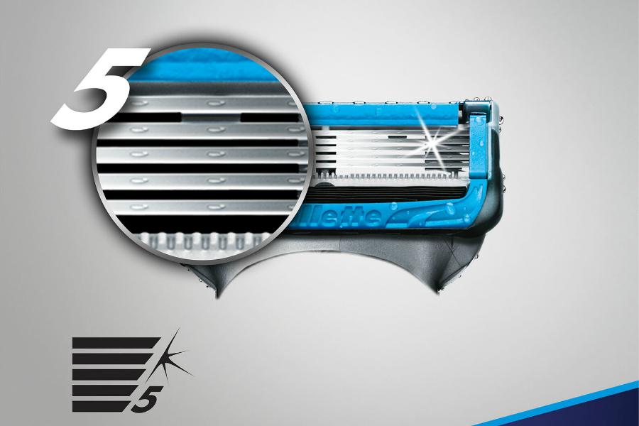 Gillette锋隐5系列刀头限时67折,6片装仅£14