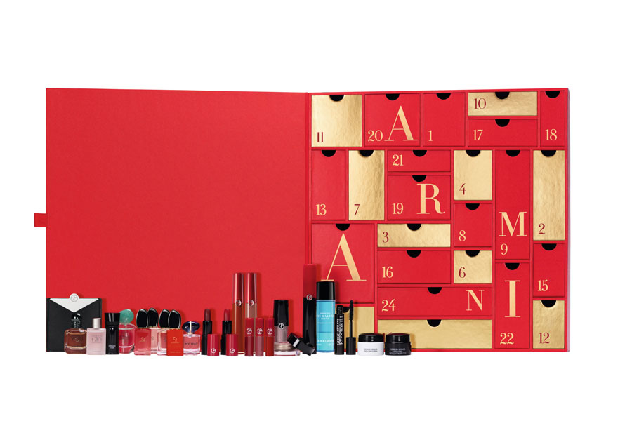 Armani美妆2020圣诞日历上架!立享75折优惠收24件王牌单品