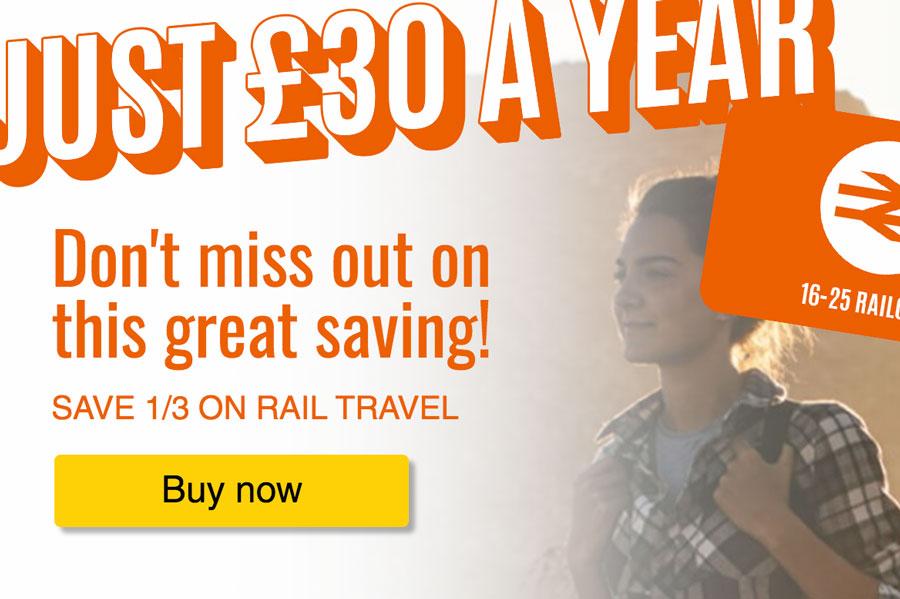 来英留学必备16-25Railcard青年铁路卡95折优惠!还没申请的速度了