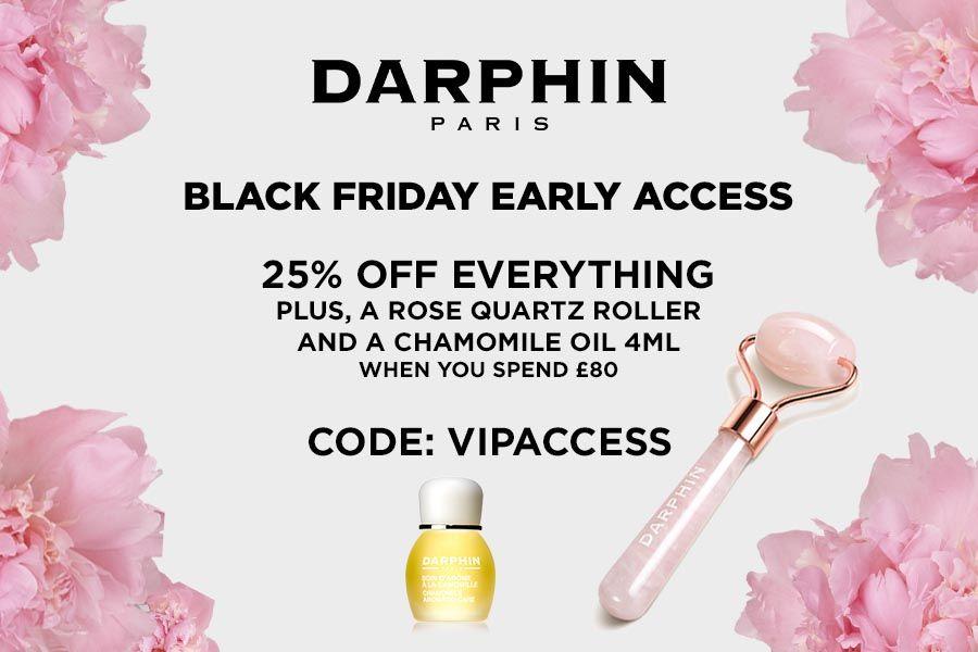 Darphin黑五全场75折+满送礼,芳香精露、银钻眼霜等都在!