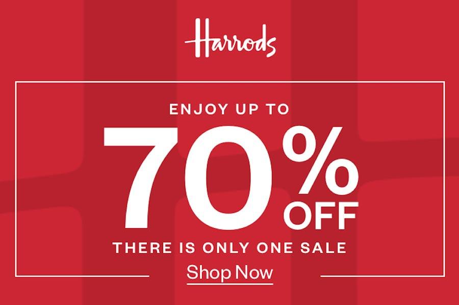 Harrods低至3折大促开启!时装、包包、配饰全线底价,为了新年买买买