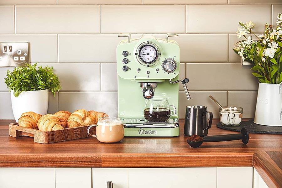 Swan北欧风网红咖啡机£89.96热卖中!马卡龙色系多色可选