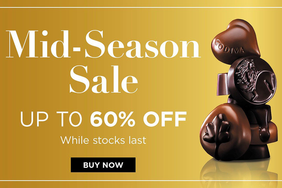 Godiva巧克力4折起!28粒礼盒装只要£29,精致黑巧也参加
