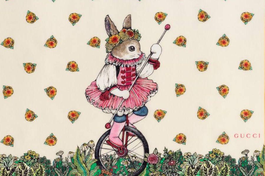 Gucci X 插画家Yuko Higuchi合作上线!猫咪、兔子元素单品115镑起!
